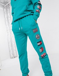Tommy Jeans Sport Tech Sweatpant In Teal Blue