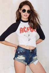 Nasty Gal Vintage Ac Dc The Switch Tee