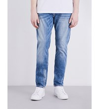 True Religion Rocco Relaxed Fit Skinny Jeans Denim Lapis
