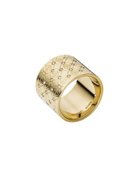 Mk Pave Monogram Ring Golden Michael Kors