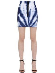 Dsquared Tie Dyed Stretch Cotton Denim Skirt