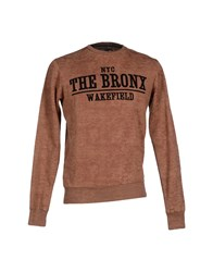Solid Topwear Sweatshirts Men Brown