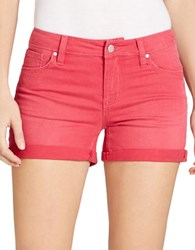 Jessica Simpson Solid Folded Cuff Shorts Red