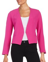 Design Lab Lord And Taylor Open Front Blazer Hot Pink