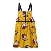 Joules Heritage Peony Cross Over Apron Gold Floral