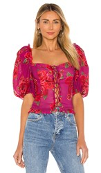 Lpa Anoushka Top In Pink Red. Raquel Floral