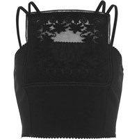 River Island Black Lace Panel Bralet