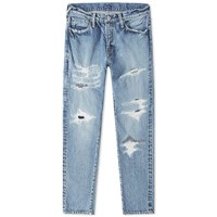 Denim By Vanquish And Fragment Five Year Wash Remake Tapered Jean Blue