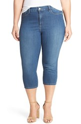 Plus Size Women's Nydj 'Ariel' Side Slit Stretch Twill Crop Pants