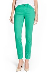 Women's Nydj 'Clarissa' Colored Stretch Skinny Ankle Jeans Jade Mint