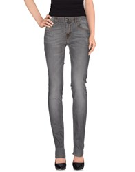 Galliano Denim Denim Trousers Women Grey