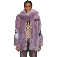 Misbhv Purple Faux Fur Europa Coat