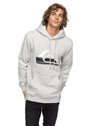 Quiksilver Men's Big Logo Hoodie Light Grey