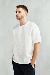 Shades Of Grey By Micah Cohen Woven Linen Tee White