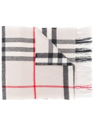 Burberry The Classic Check Cashmere Scarf Neutrals