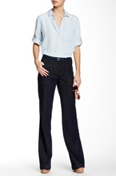 Level 99 Eve Mid Rise Wide Leg Jean Blue