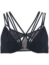 Giuliana Romanno Strappy Triangle Bra Blue
