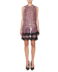 Tom Ford Sequined Cocktail Dress W Layered Lace Black