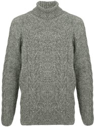 Commune De Paris High Neck Knit Sweater Grey