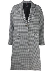 Paul Smith Ps Check Midi Coat White