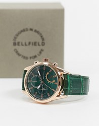Bellfield Watch With Green Strap