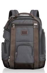 Tumi Men's 'Shaw Deluxe' Water Resistant Ballistic Nylon Backpack Black Anthracite
