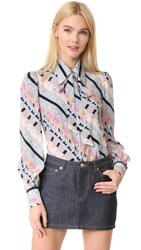 Marc Jacobs Puff Sleeve Button Down Blue