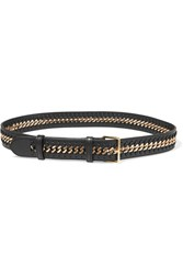 Stella Mccartney Falabella Faux Leather Belt Black