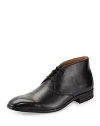 Neiman Marcus Napoli Leather Chukka Boot Black