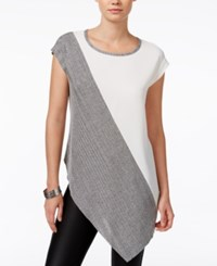 Bar Iii Colorblocked Asymmetrical Top Only At Macy's Egret