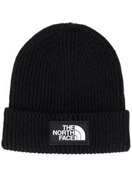 The North Face Beanie With Logo Patch Black