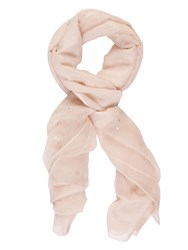 Chesca Pearl Beaded Scarf Pink