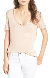 Zadig And Voltaire Women's Tino Foil Trim Tee