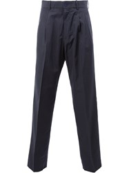 Stella Mccartney Classic Pleated Trousers Blue