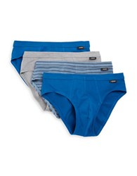 Jockey Four Pack Low Rise Bikini Briefs Blue Assorted