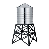 Alessi Water Tower Container Black