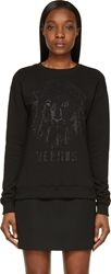 Versus Black Studded Lion Sweatshirt