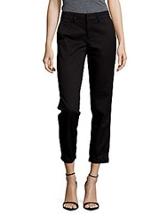 Vince Rolled Boyfriend Pants Black