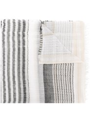 Le Tricot Perugia Striped Scarf Nude And Neutrals