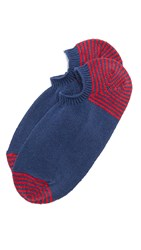 Anonymous Ism Silk And Cotton Low Cut Socks Indigo