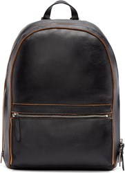 3.1 Phillip Lim Black Grained Leather Honor Backpack