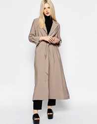 Monki Soft Trenchcoat Mole Light Beige