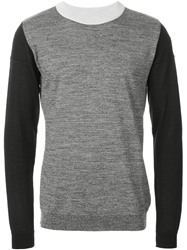 S.N.S. Herning Color Block Sweater Grey
