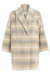 Iro Printed Virgin Wool Coat Multicolor