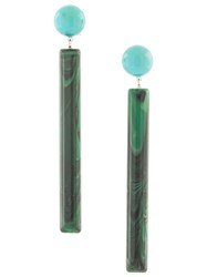 Rachel Comey Matchstick Geometric Earrings Green