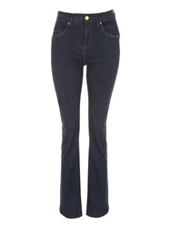 Jane Norman Bum Lift Bootcut Jeans Denim Indigo