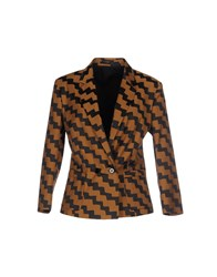 Mauro Grifoni Suits And Jackets Blazers Women Camel