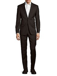 John Varvatos Classic Fit Solid Wool Suit Charcoal