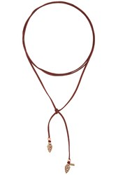Vanessa Mooney Arrowhead Wrap Choker Burgundy