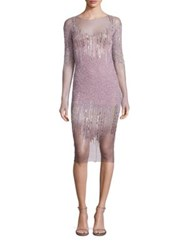 Pamella Roland Sequin And Crystal Embellished Dress